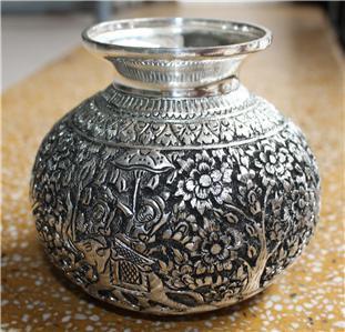 Asian Silver Vase Khmer Design