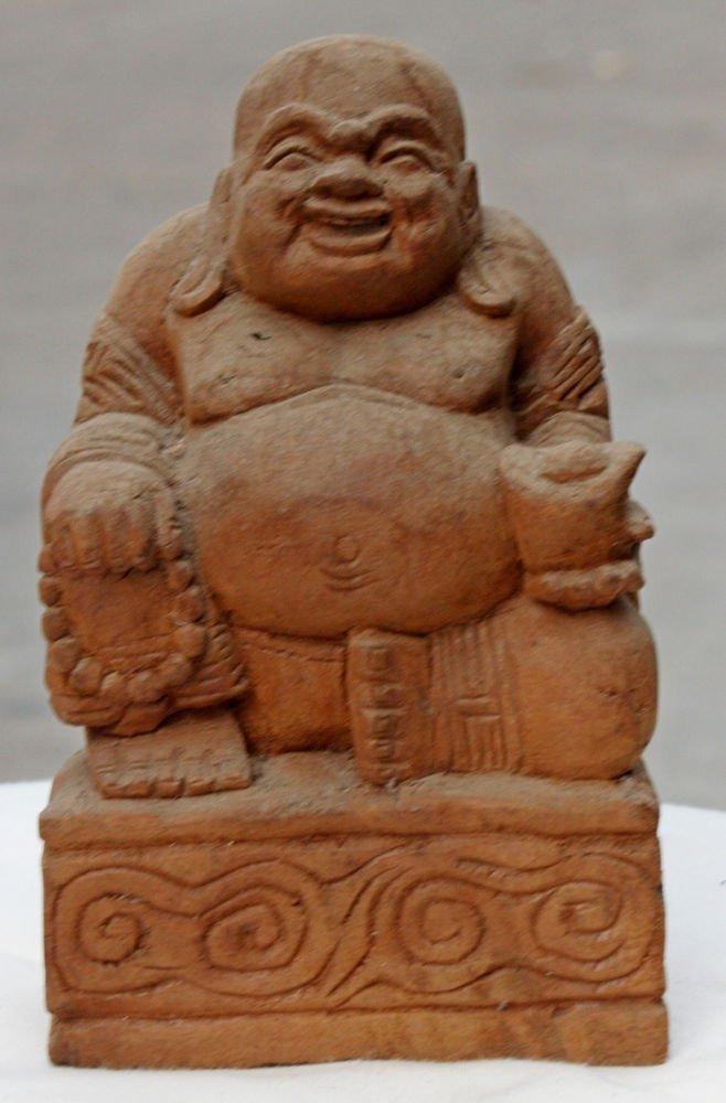 Asian Wooden Sitting Buddha #13