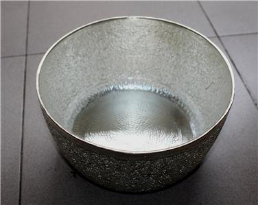 Handcrafted Asian Silver Bowl