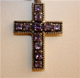 Elegant 925 Silver and Amethyst Cross