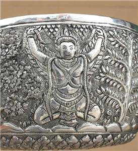 Beautiful Cambodian Designed Silver Bowl