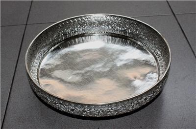 Beautiful Cambodian Designed Silver  Flat Bowl