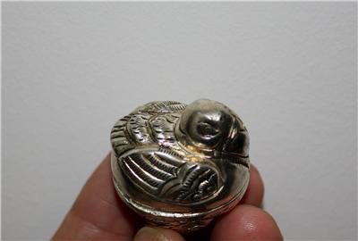 Asian Silver Bird Trinket Box
