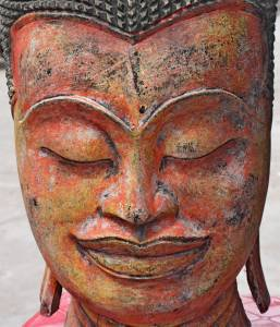 Asian Wooden Buddha Head #2