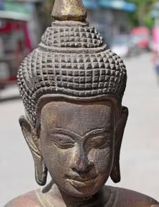 Asian Standing Wooden Buddha #1