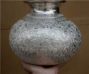 Beautiful Asian Silver Vase