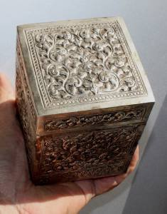 Asian Silver Square Box