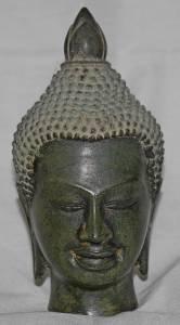 Asian Bronze Buddha Head #1
