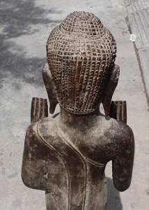 Asian Tall Standing wooden Buddha