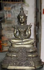 Antique Old Asian Bronze Buddha #1