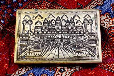 Cambodia Khmer Bronze Square Box #1