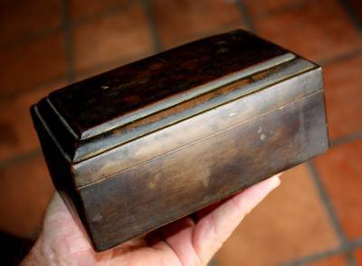 Early Khmer Bronze Square Box