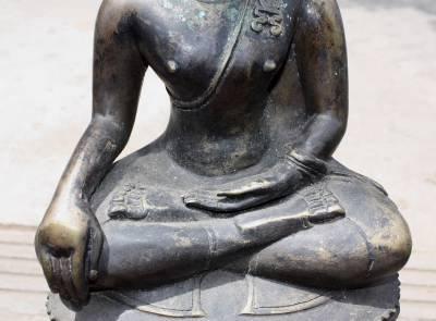 Asian Old Bronze Buddha