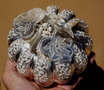 Silver Asian Pumpkin Box
