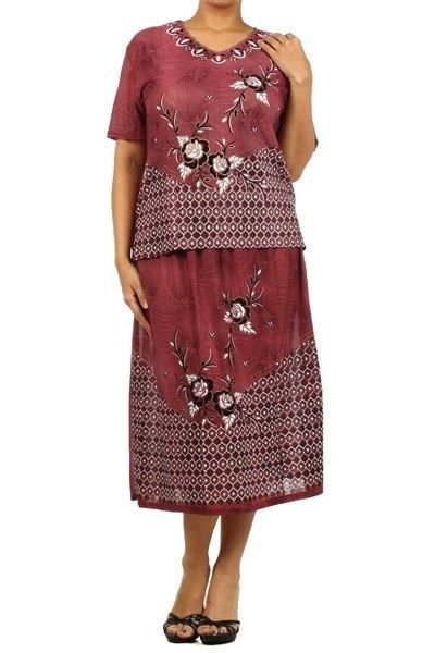 Womans Embroidered 2 Piece Dress