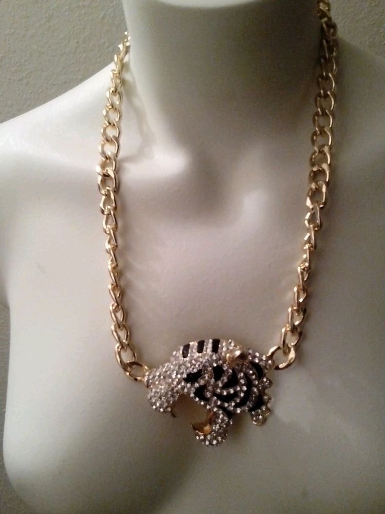 LOT OF 3 UNISEX CHAINS WITH A TIGER THEME