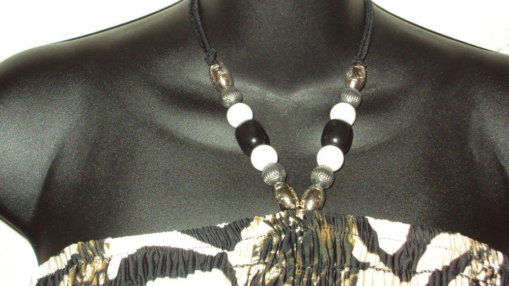 WOMENS BRWON BLACK WHITE SUMMER ANIMAL PRINT HALTER DRESS PLUS SIZE 1X 2X 3X