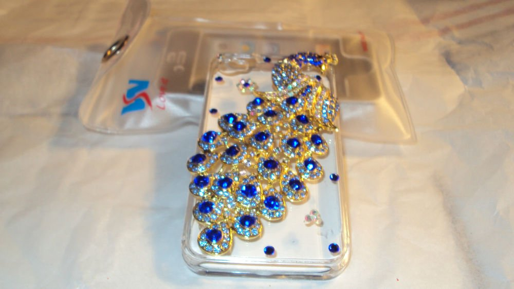iphone 4gs Peacock Case with Rhinestones