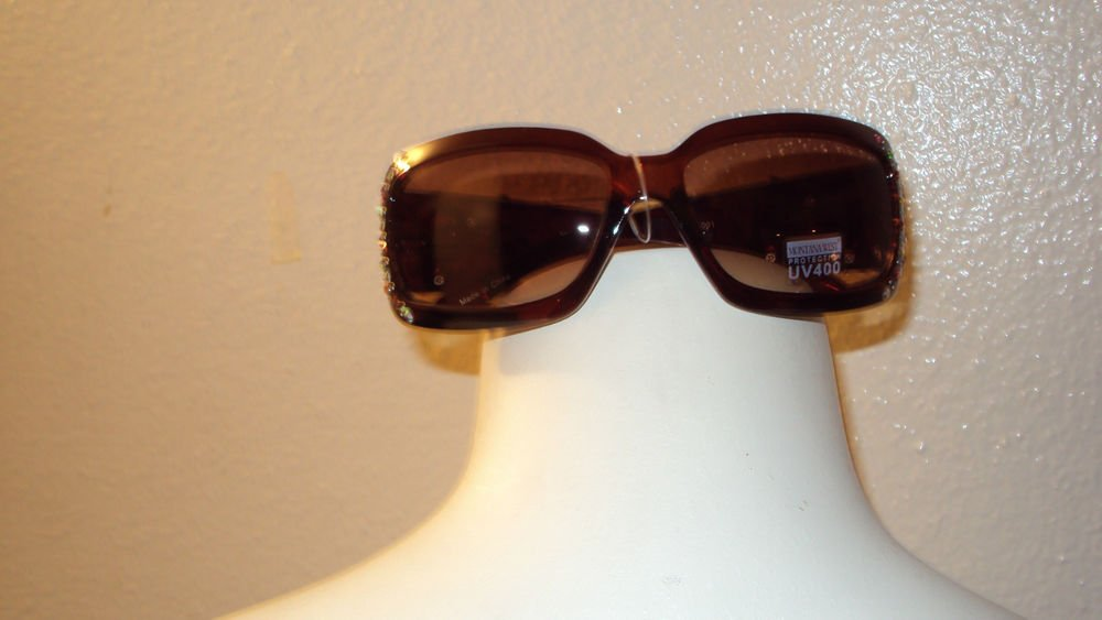 Montana West Sun Glasses with Decorative Beads and Guns with Rhinestones