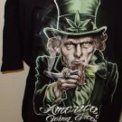 MENS COTTON GRAPHIC UNCLE SAM T-SHIRT SIZE M L XL 2XL AMERICAS  GOING GREEN