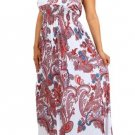 PAISLEY PRINT HALTER SUMMER BEACH PARTY MAXI PLUS SIZE DRESS SIZE 2X 3X 4X