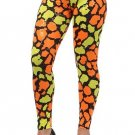 WOMENS PLUS SIZE ORANGE & YELLOW  LEGGINGS SIZE 1X 2X 3X