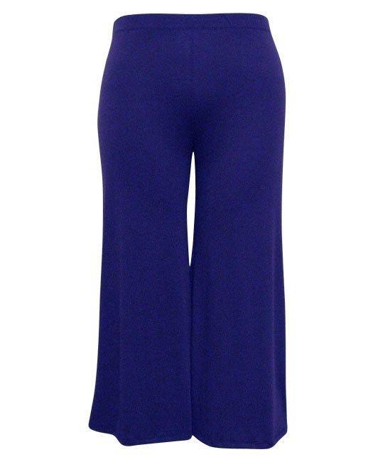 WOMENS ROYAL BLUE PLUS SIZE CASUAL WIDE LEG PANTS SIZE 4X 5X 6X