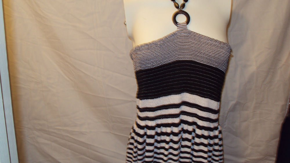 WOMENS STRIPED BLACK AND WHITE SUMMER BEACH CASUAL SIZE 3X