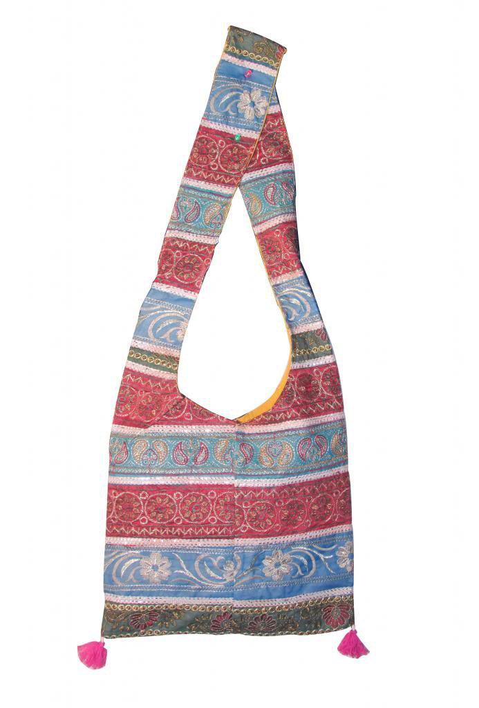 Hippie, Boho, Gypsy Beach, Ethenic Tribal Stylish Handmade Sling Shoulder Bag,