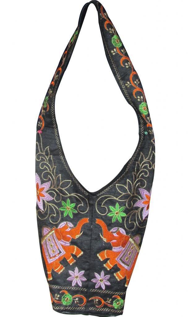 Ethnic Handmade Cross Shoulder Bag, Hippie, Boho, Gypsy Beach, Embroidered Bag
