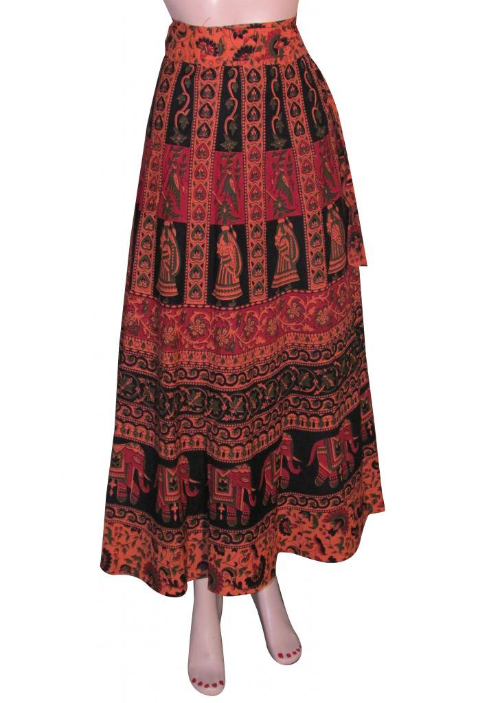 Skirts Indian Summer Wear Wrap Round Skirt Beach Casual Party Wear Boho Woman