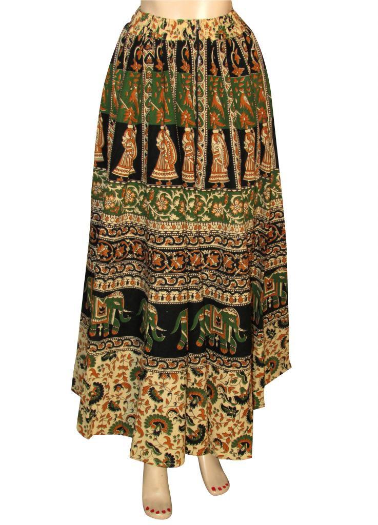 Beach Casual Party Wear Boho Woman skirts Indian Style Summer Wear Long Skirt