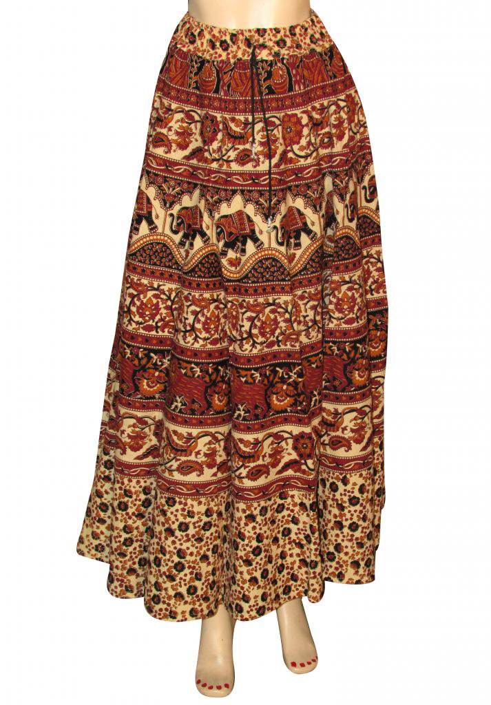 Indian Style Summer Wear Long Skirt Beach Casual Party Wear Boho Woman skirts
