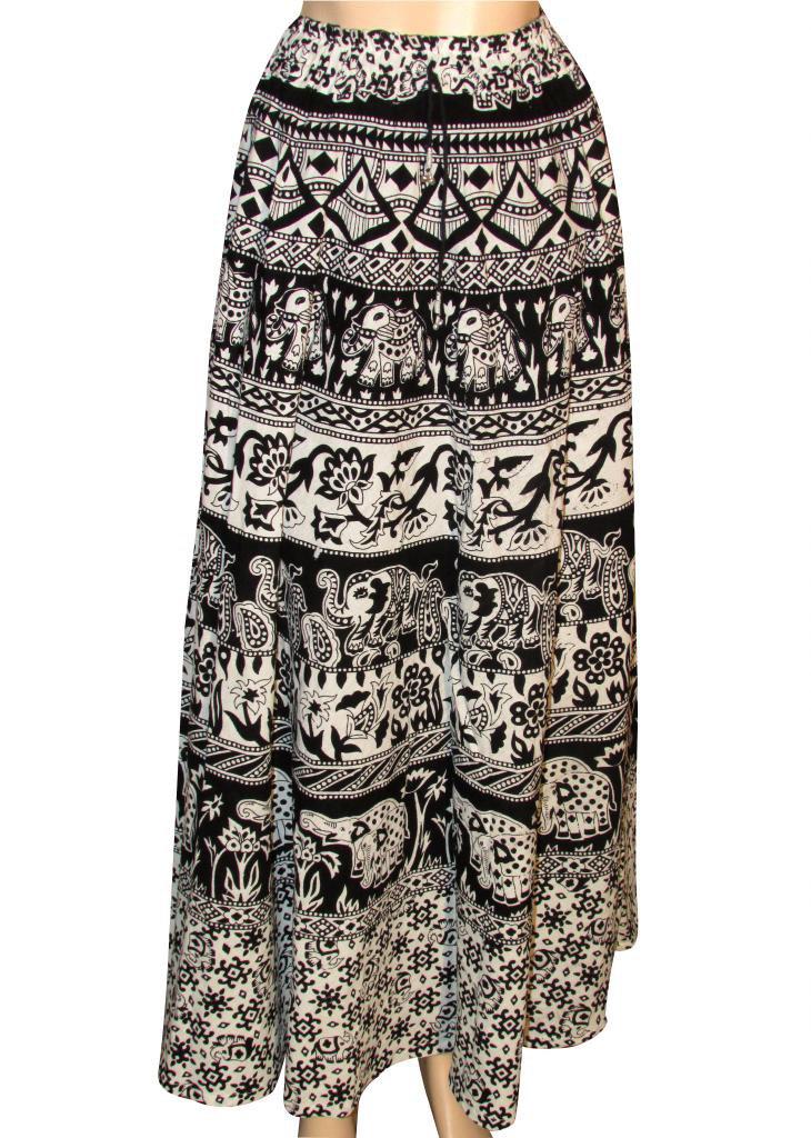 Long Skirt Beach Casual Party Wear Boho Woman skirts Indian Style Summer Wear
