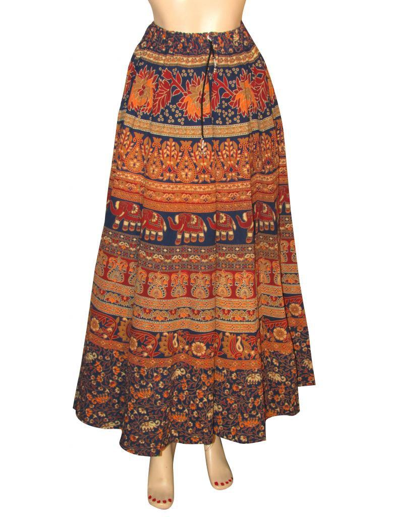 Skirt Beach Casual Party Wear Boho Woman skirts Indian Style Summer Wear Long