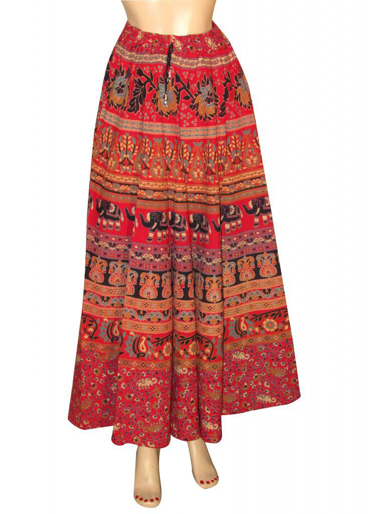 Casual Party Wear Boho Woman skirts Indian Style Summer Wear Long Skirt Beach