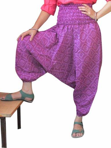 Jaipuri Bandhej Print Harem pants Genie Trouser Baggy Jumpsuit Boho Gypsy