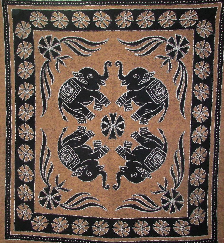 Wall Hanging Bed Cover Indian Boho Decor Curtain Hippie Tapestry Elephant Picnic