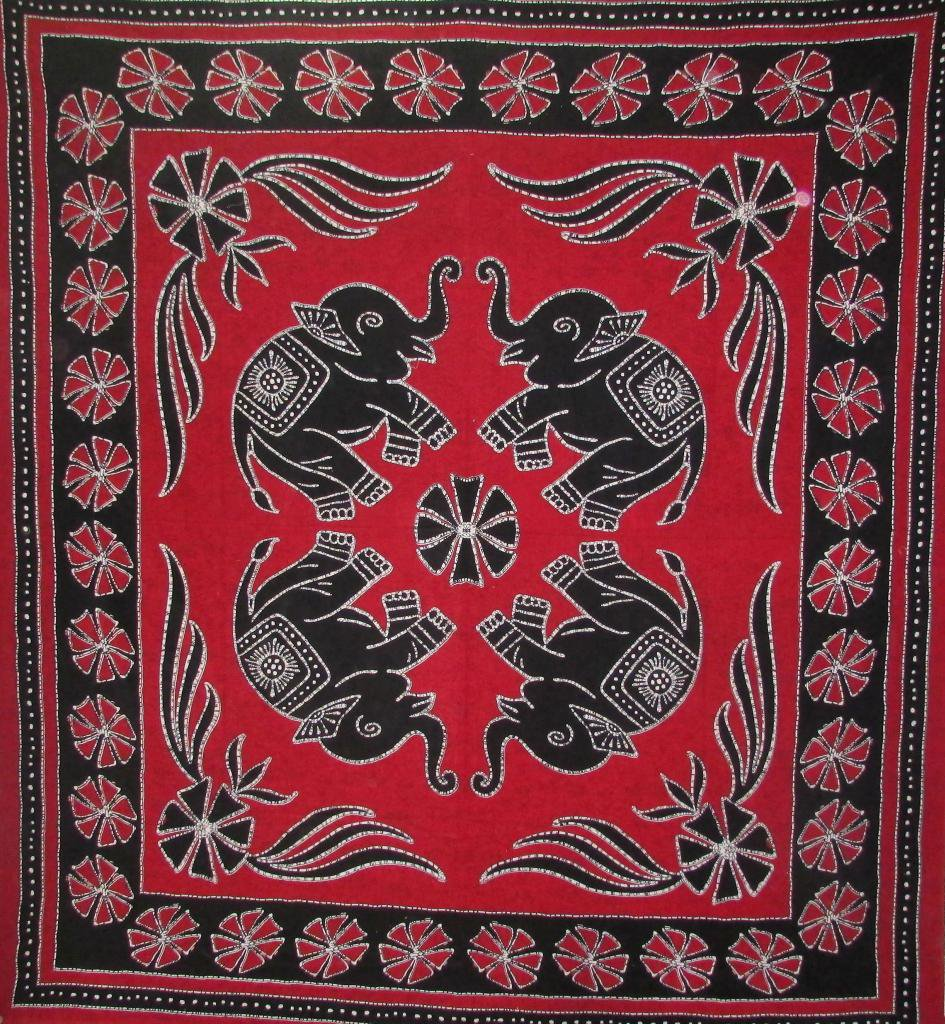 Wall Hanging Bed Cover Indian Bohemian Decor Curtain Hippie Tapestry Elephant