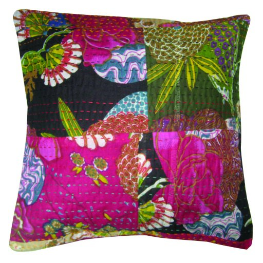 Pillow Covers 16 X 16 Throw Embroidery Kantha Designs Patch Work Whole Sale Lot