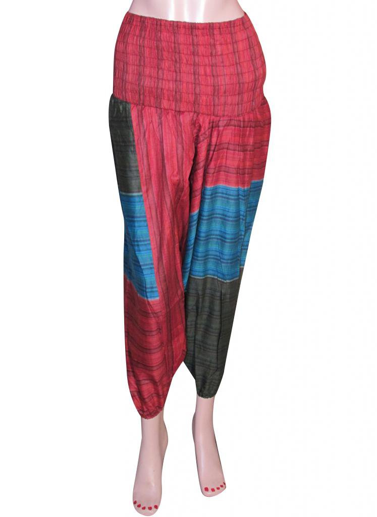 Baggy Genie Trouser Jumpsuit Boho Gypsy Indian Multi Color Harem Pants Stripes