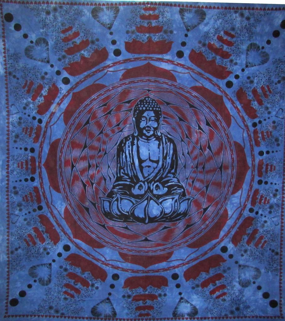 Buddha Wall Hanging Bed Cover Curtain Tapestry Boho  Hippie Horoscope Mandala