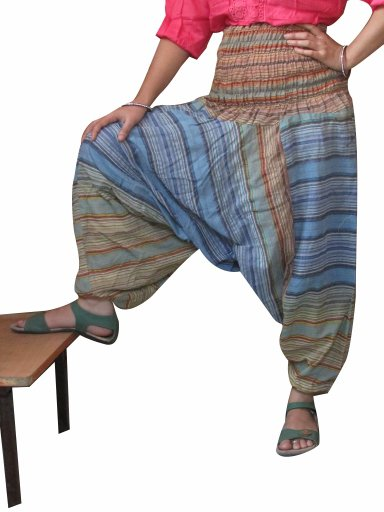 Wholesale Lot 5Pc Stripes Harem Pants Baggy  Genie Trouser Jumpsuit Boho Gypsy