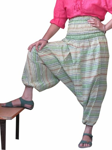 Multi Color Harem Pants Stripes Baggy Genie Trouser Jumpsuit Boho Gypsy Indian