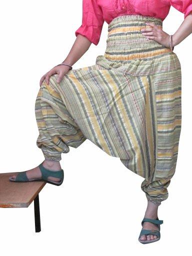 Beautiful Stripes Harem Pants Baggy Genie Trouser Jumpsuit Boho Gypsy Indian
