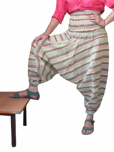 Designer Stripes Harem Pants Baggy Genie Trouser Jumpsuit Boho Gypsy Indian