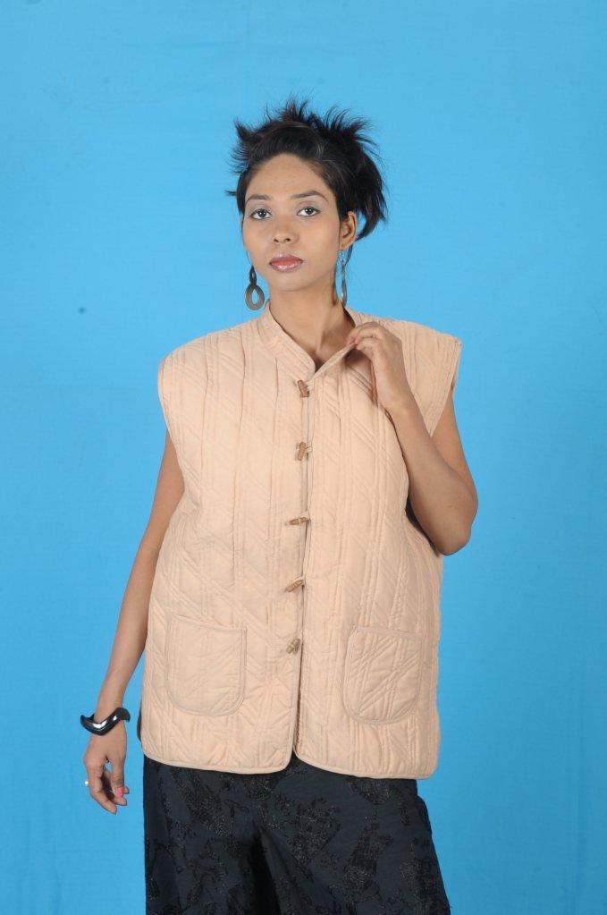 Jaipuri Quilted Cotton Jacket Handicraft Printed Reversible Vintage Gudri Coat