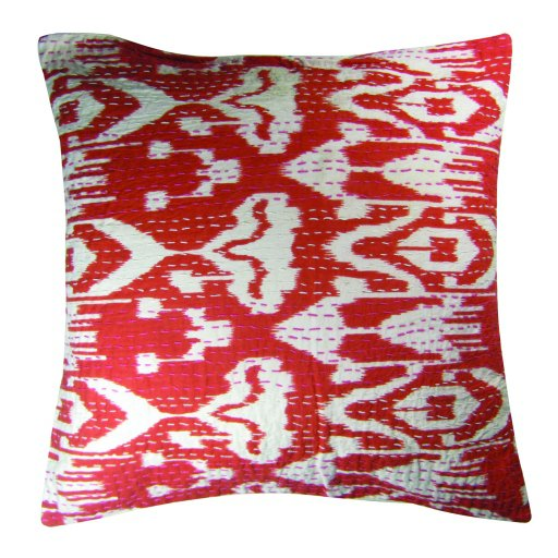 New Cushion Cover Whole Sale Lot Pillow Covers 16 X 16 Throw Ikat Print Kantha,