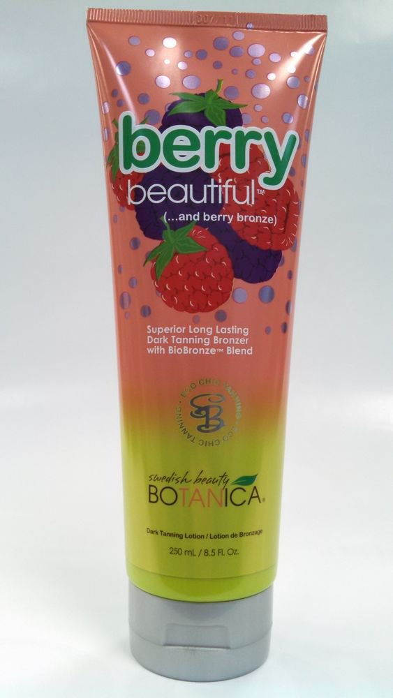 SWEDISH BEAUTY BERRY BEAUTIFUL NATURAL BRONZER TANNING BED LOTION