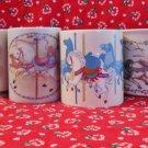 Set Of Four Otagiri Japan Carousel Horse Mugs